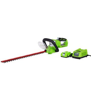 Greenworks 22-Inch 24V Cordless Hedge Trimmer, 2.0 AH Battery Included