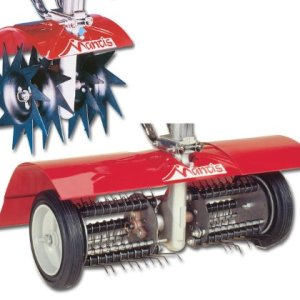 Mantis Power Tiller Aerator/Dethatcher Combo Attachment for Gardening
