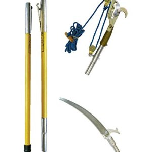 Jameson FG-6PKG-7 FG-Series Manual Pole Saw and Tree Pruner with Two 6-Foot Fiberglass Poles