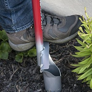 """Garden Weasel Bulb Planter - Features Sharp Blade Garden Weasel Bulb Planter - Features Sharp Blade, Pointed Tip and Comfortable Hand Grip, 40"""" Long Red and Silver."""