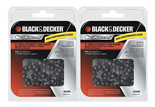 "Black & Decker Saw (2 Pack) Replacement 6"" Chain"