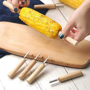 Vlook 24Pcs Corn Holders, Stainless Steel Sweetcorn Prong Forks