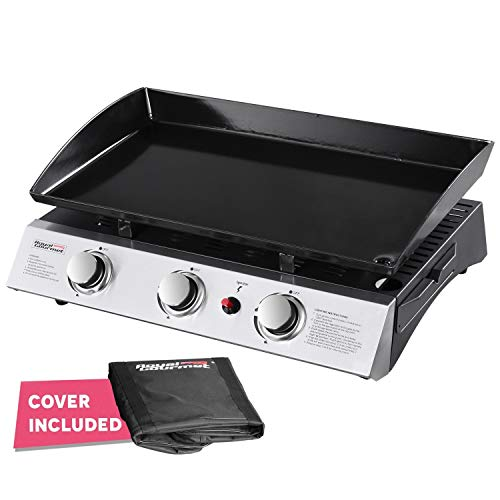 Royal Gourmet Portable 3-Burner Propane Gas Grill Griddle