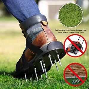 Lawn Aerator Shoes with 3 Gardening Tools - Upgraded Heavy Duty GoTravel2 Lawn Aerator Shoes - Heavy Duty Spiked Sandals for Aerating Lawn