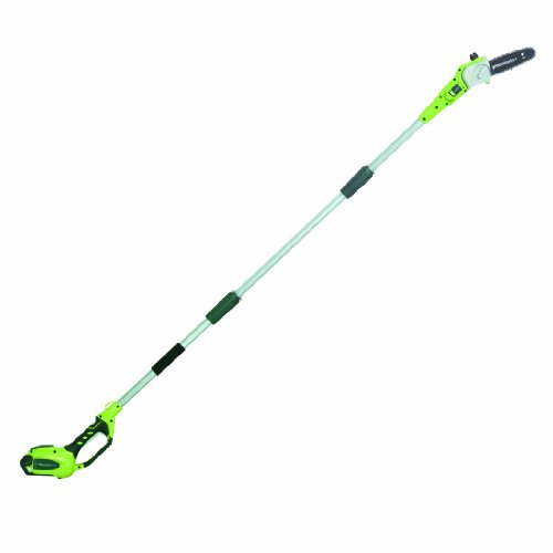 Greenworks 8.5' 40V Cordless Pole Saw, 2.0 AH Battery Included