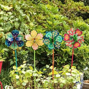 Topadorn Floral Garden Stake Outdoor Garden Friends
