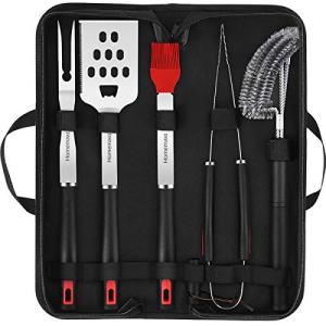 Homemaxs BBQ Tools Set-5pcs BBQ Grilling Tool Set with Case for Men