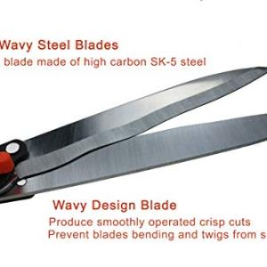 THANOS Hedge Shears,SK-5 Wavy High Carbon Steel Blades About our hedge shears :