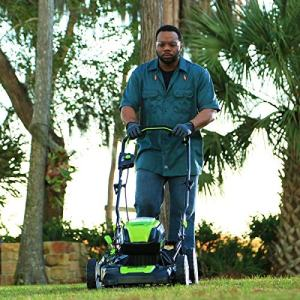 Greenworks PRO 21-Inch 80V Cordless Lawn Mower Greenworks PRO 21-Inch 80V Cordless Lawn Mower, Two 2.0AH Batteries Included GLM801601.