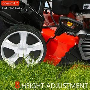 """oneinmil Self Propelled Lawn Mower Rear Wheel Drive oneinmil Self Propelled Lawn Mower - RV175 173.9cc Gas 21"""". 4-in-1 Rear Wheel Drive Self Propel Gas Lawn Mower."""