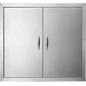 Mophorn Double Wall BBQ Access Door Cutout 31 Width x 24 Height Inches BBQ Island Door Brushed Stainless Steel Perfect for Outdoor Kitchen or BBQ Island