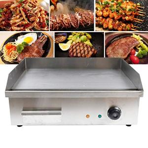 TBvechi Teppanyaki Electric Griddle Cooktop Countertop Commercial Flat Top Grill Griddles BBQ Plate Grill Thermostatic Control