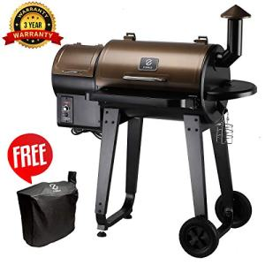 Z GRILLS Wood Pellet Grill & Smoker with Digital Temperature Controls, 450 sq. in. Cooking Capacity - Grill, Smoke, Bake, Sear, Roast, Braise and BBQ