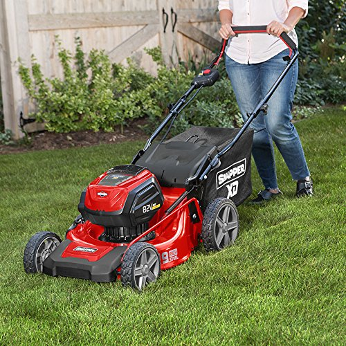 Snapper MAX Electric Cordless 19-Inch Lawnmower Kit Snapper XD 82V MAX Electric Cordless 19-Inch Lawnmower Kit with (2) 2.0 Batteries & (1) Rapid Charger, 1687915, SXD19PWM82K.