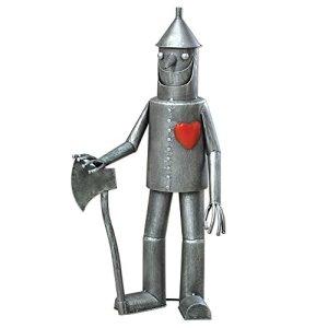 Bits and Pieces-Steadfast Tin Woodman with a Heart Garden Sculpture