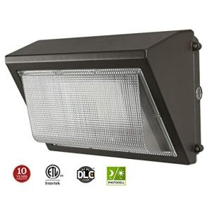 Kadision 100W LED Wall Pack with Dusk-to-Dawn Photocell