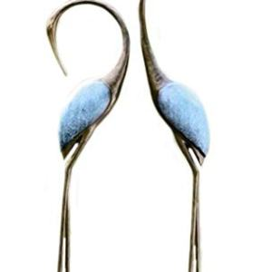SPI Home Stylized Garden Crane Pair Sculpture