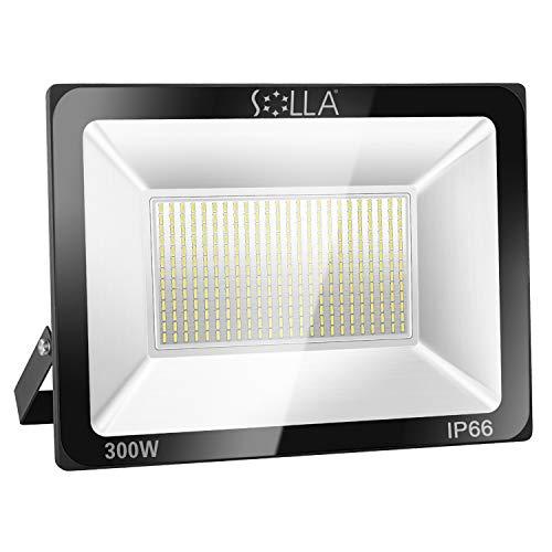 SOLLA 300W LED Flood Light, IP66 Waterproof, 24000lm