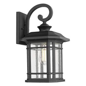 Emliviar Outdoor Wall Lights for House, 1-Light Exterior Wall Sconce Black