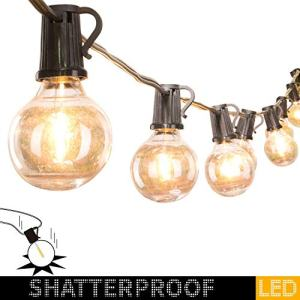 100Ft. LED G40 Outdoor Patio String Lights with 100 Shatterproof LED