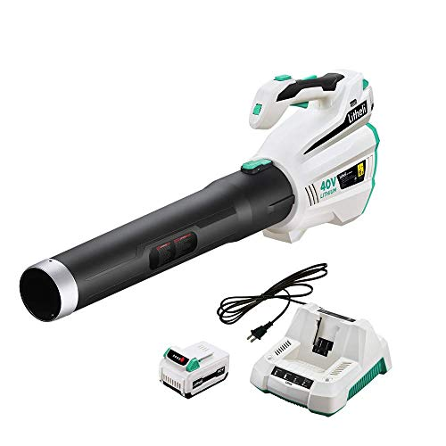 LiTHELi 40V Leaf Blower with Brushless Motor, 2.5AH Battery and Charger