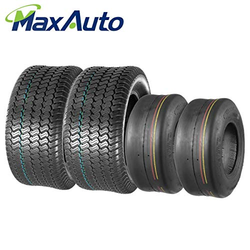 MaxAuto Lawn Mower Turf Tires 13x5-6 Front & 23X9.50-12 Rear 4PR