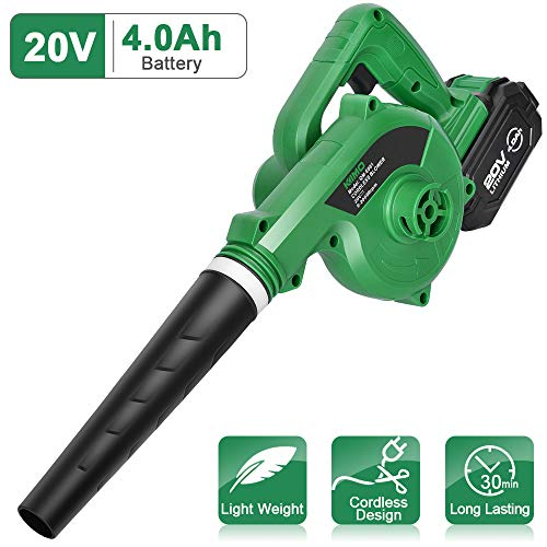 KIMO Cordless Leaf Blower - 20V 4.0 AH Lithium Battery Powered Lightweight