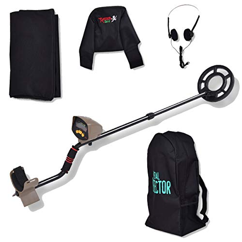 "Goplus Waterproof Metal Detector, 8"" Depth Sensitive Underground Gold Search"