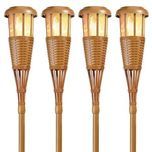 Newhouse Lighting Solar-Powered Flickering Flame Outdoor Island Torches