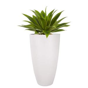 Tall Planters Outdoor Indoor - 20 inch Modern White Flower Pots