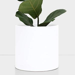 "PEACH & PEBBLE 11"" Ceramic Planter (15"", 12"", 10"", 8"" or 7"") - Large White Plant Pot"