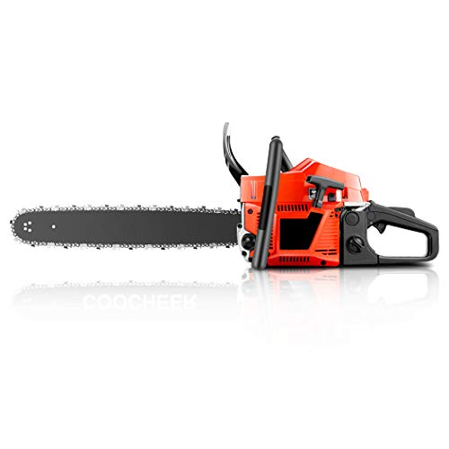 OppsDecor 58cc Gas Powered Chainsaw, 20 Inch 2 Stroke Handed Petrol Gasoline