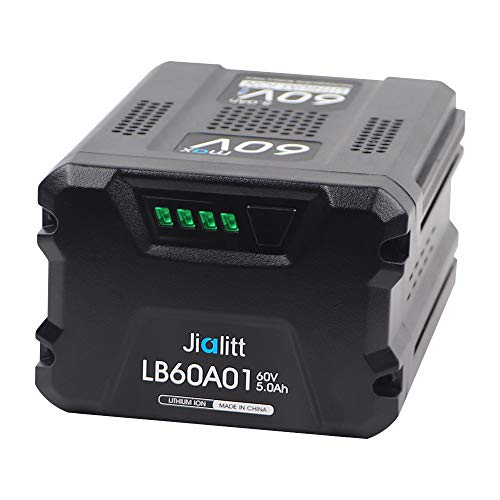 Jialitt 60V 5.0Ah Replacement Battery For Greenworks Pro 60V Max Lithium