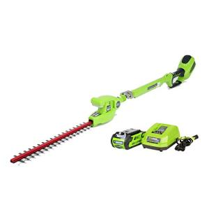 Greenworks 20-Inch 40V Cordless Pole Hedge Trimmer, 2.0 AH Battery Included