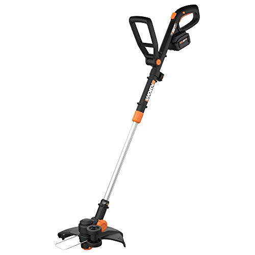 "Worx WG170.3 GT Revolution 20V PowerShare 12"" Grass Trimmer/Edger/Mini Mower 4.0Ah Battery and Charger Included,Black and Orange"