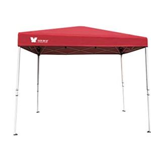 SORARA 6' X 4' Ez Pop-up Canopy Tent Gazebo Commercial Market Stall with Carry Bag, Watermelon Red
