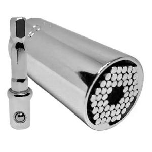Universal Socket Grip 7mm-19mm Multi-Function 2pc Adjusting Adapter Wrench Ratchet Power Drill Tool - Best Cool Gadget for Handyman, DIY, Father/Dad, Husband, Boyfriend, Him, Women, Premium Quality