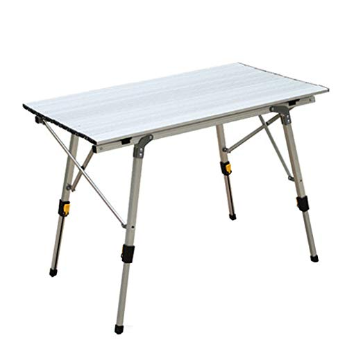 Portable Aluminum Camping Folding Tables with Carrying Bag for Hiking Picnic Camping Beach Boat Dining Cooking (White)