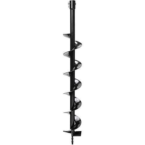 """Biltek Auger Post Hole Digger Bits 4"""" x 32"""" Deep Professional Fence Holes 3/4"""" Shaft - Perfect for Quickly Digging Holes to Install Fence Posts, Decks, Planting Trees, Shrubs, Ice Fishing, and More!"""