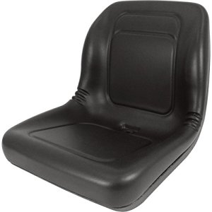 Lawn Mower, Garden Tractor UTV / ATV Seat Black High Back Vinyl Universal Mount