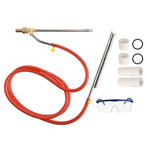 RIDGE WASHER Pressure Washer Sandblasting Kit, Wet Abrasive Sandblaster Attachment, with Replacement Nozzle Tips, 1/4 Inch Quick Disconnect, 5000 PSI