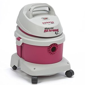 Shop-Vac 5895200 2.5-Peak Horsepower All-around EZ Series Wet/Dry Vacuum 2.5-Gallon With Extension Wands Tool Storage & Wall Bracket Uses Type B Filter Bag & Type R Foam Sleeve, Magenta/Gray