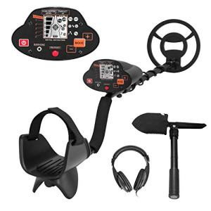 Fleeser Metal Detector with Waterproof Search Coil,Bounty Hunter with High-Accuracy LCD Display and Adjustable Stem for Treasure Hunting