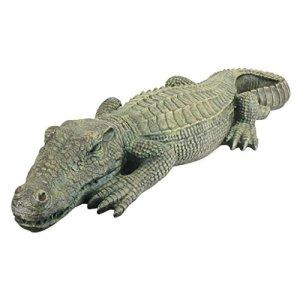 Design Toscano The Swamp Beast Lawn Alligator Crocodile Garden Sculpture, 37 Inch, Polyresin, Full Color