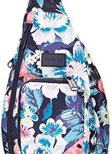 Vera Bradley Women's Recycled Lighten Up ReActive Mini Sling Backpack, Garden Picnic, One Size
