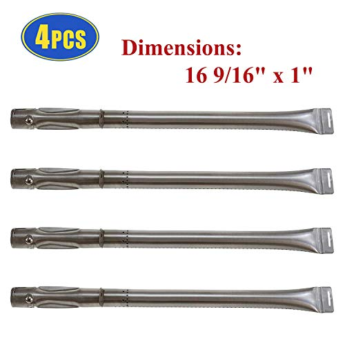 Barbecue Gas Grill Pipe Burners Replacement for Dyna-Glo DGF510SBP DGF493BNP Grill Parts, 4 Pack Grill Burner Tubes for Backyard Gril GBC1461W BY15-101-001-02, BHG BH14-101-099-01 Gas Grill