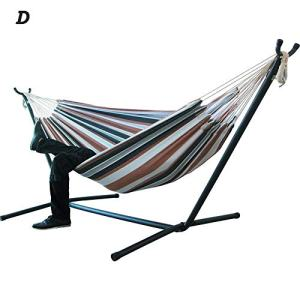 Supicity Large Hammock Hanging Chair for Double People, Large Hammock with Steel Stand for Garden Courtyard Indoor Outdoor/Without Shelf