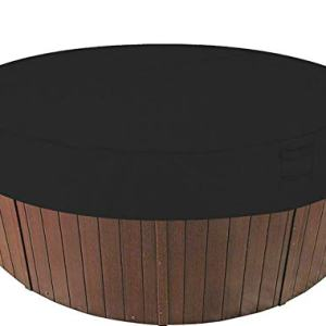 "AsiaCreate Outdoor Round Hot Tub Cover,Waterproof SPA Hot Tub Covers,75''Dx12""H,Black"