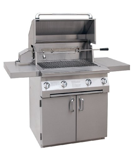 Solaire 30-Inch InfraVection Propane Cart Grill with Rotisserie Kit, Stainless Steel