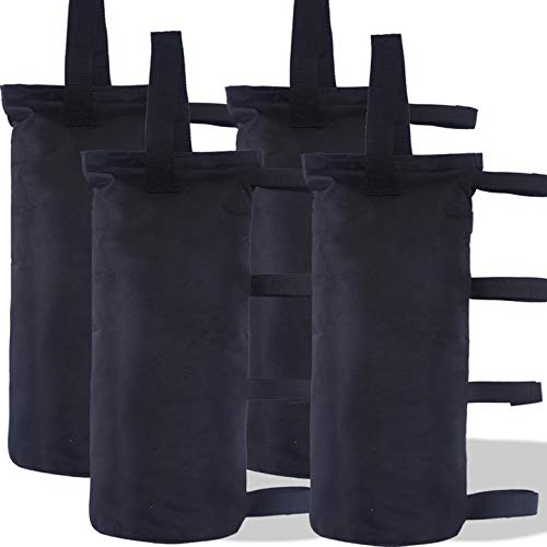 ABCCANOPY 112 LBS Outdoor Pop Up Canopy Tent Gazebo Weight Sand Bag Anchor Kit-4 Pack (Black)